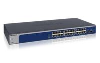 Netgear XS724EM gemanaged L2 10G Ethernet (100/1000/10000) 1U Blau, Grau (Blau, Grau)