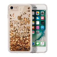 LAUT POP GLITTER GLAM 4.7Zoll Abdeckung Gold, Transparent (Gold, Transparent)