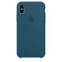 Apple iPhone X Silikon Case (Blau)
