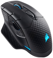 Corsair DARK CORE RGB SE RF kabellos + Bluetooth Optisch 16000DPI Linkshändig Schwarz Maus (Schwarz)