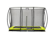 EXIT Silhouette Ground + Safetynet Rect. 244x366 (8x12ft) Lime (Schwarz, Limette)