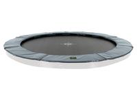 EXIT Supreme groundlevel trampoline ø366cm (12ft) - grey (Grau)