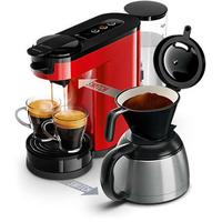 Senseo Pad- und Filterkaffeemaschine HD6592/80 (Schwarz, Rot)