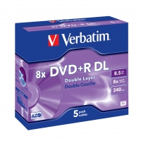 Verbatim DVD+R Double Layer Matt Silver 8x