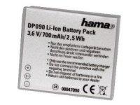 Hama Li-Ion Battery DP 090 suitable for Canon (Grau)