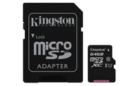 Kingston Technology Canvas Select 64GB MicroSDXC UHS-I Klasse 10 Speicherkarte (Schwarz)