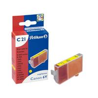 Pelikan Inkjet Cartridge C21 replaces Canon BCI-6Y, yellow, 13 ml
