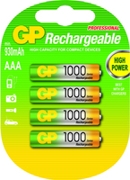 GP Batteries NiMH rechargeable batteries AAA (Mehrfarbig)