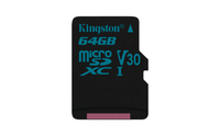 Kingston Technology Canvas Go! 64GB MicroSDXC UHS-I Klasse 10 Speicherkarte (Schwarz)
