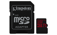 Kingston Technology Canvas React 32GB MicroSDHC UHS-I Klasse 10 Speicherkarte (Schwarz, Rot)