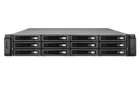 QNAP REXP-1210U-RP Rack (2U) Schwarz Disk-Array (Schwarz)