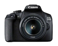 Canon EOS 2000D BK 18-55 IS II EU26 SLR-Kamera-Set 24.1MP CMOS 6000 x 4000Pixel Schwarz (Schwarz)