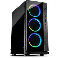 Inter-Tech W-III RGB Tower Schwarz Computer-Gehäuse (Schwarz)
