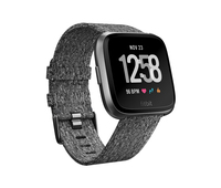 Fitbit Versa LCD GPS Schwarz, Grau Smartwatch (Grau, Schwarz, Grau)