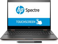 HP Spectre x360 15-ch004ng 3.1GHz i7-8705G Intel® Core™ i7 der achten Generation 15.6Zoll 3840 x 2160Pixel Touchscreen Schwarz, Silber Hybrid (2-in-1) (Schwarz, Silber)