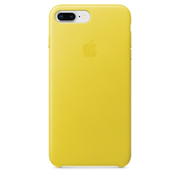 Apple iPhone 8 Plus / 7 Plus Leder Case – Frühlingsgelb (Gelb)