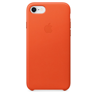 Apple iPhone 8 / 7 Leder Case (Orange)