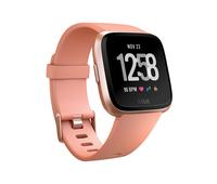 Fitbit Versa LCD Rosa-Goldfarben Smartwatch (Pfirsich, Rosa-Goldfarben)