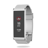 MyKronoz Zefit 4HR Wristband activity tracker 1.06Zoll TFT Kabellos IP67 Silber, Weiß (Silber, Weiß)