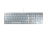 CHERRY KC 6000 SLIM Deutsch USB QWERTZ Silber (Silber)
