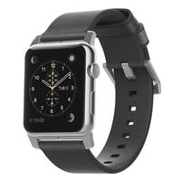 Nomad NM1A42SM00 Band Schwarz Leder Smartwatch-Zubehör (Schwarz)