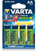 Varta Longlife Accus AA 2100 mAh, 4-Pack (Mehrfarbig)