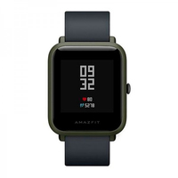 Xiaomi Amazfit Beep GPS Schwarz, Grün Smartwatch (Schwarz, Schwarz, Grün)
