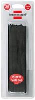 Brennenstuhl Velcro Cable Ties Schwarz Kabelbinder (Schwarz)
