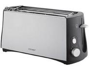 Cloer 3710 Toaster (Schwarz, Gebürsteter Stahl)