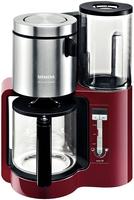 Siemens TC86304 Kaffeemaschine (Schwarz, Rot, Silber)