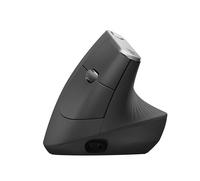 Logitech MX Vertical Advanced Ergonimic RF kabellos + Bluetooth 4000DPI rechts Schwarz Maus (Schwarz)