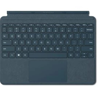 Microsoft Surface Go Signature Type Cover QWERTY Deutsch Blau Tastatur für Mobilgeräte (Blau)