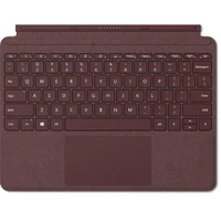 Microsoft Surface Go Signature Type Cover QWERTY Deutsch Burgund Tastatur für Mobilgeräte (Burgund)