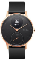 Nokia Steel HR Wristband activity tracker Kabellos Schwarz, Rose Gold (Schwarz, Rose Gold)