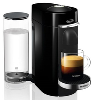 DeLonghi Nespresso Vertuo ENV 155.B Freistehend Vollautomatisch Espresso maker 1.7l 1Tassen Schwarz Kaffeemaschine (Schwarz)