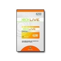 Microsoft Xbox 360 Live 4200 Points, GR