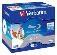 Verbatim BD-R DL 50GB 6x Wide Printable 10pk