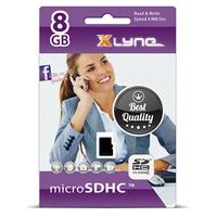 xlyne 7408000 Speicherkarte 8 GB MicroSDHC UHS-I Klasse 4 (Schwarz)