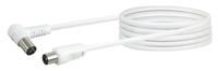 Schwaiger KVKW30 532 Koaxialkabel 3 m IEC Weiß (Weiß)