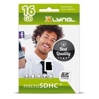 xlyne 7416000 Speicherkarte 16 GB MicroSDHC UHS-I Klasse 4 (Schwarz)