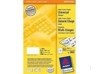 Avery Universal Labels, White 52,5x29,7mm (200)