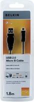 Belkin F3U151CP1.8M USB Kabel (Schwarz)