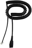 Jabra QD cord, coiled, mod plug (Schwarz)