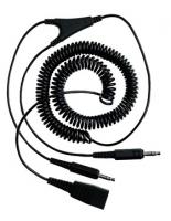Jabra PC cord - QD to 2x3.5mm (Schwarz)