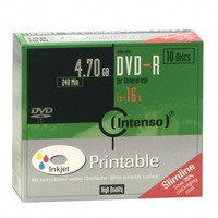 Intenso DVD-R 4.7GB, Printable, 16x