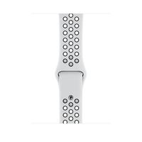 Apple MX8F2ZM/A Smartwatch-Zubehör Band Schwarz, Platin Fluor-Elastomer (Schwarz, Platin)