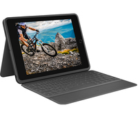 Logitech Rugged Folio Graphit USB Typ-C QWERTZ Deutsch (Graphit)