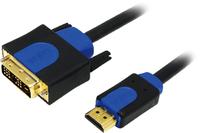 LogiLink CHB3103 Audio-/Videokabel (Schwarz, Blau)