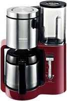Siemens TC86504 Kaffeemaschine (Schwarz, Rot, Silber)