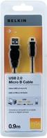 Belkin F3U151CP0.9M USB Kabel (Schwarz)